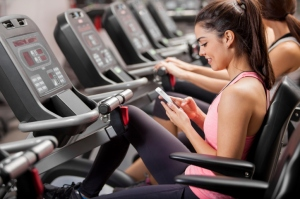Texting At The Gym